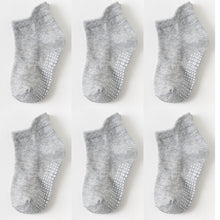 6 Pairs of Children's Anti-Slip Low Cut Socks with Rubber Grips
