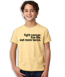 Fight Cancer Eat Tacos T-Shirt - Youth Unisex