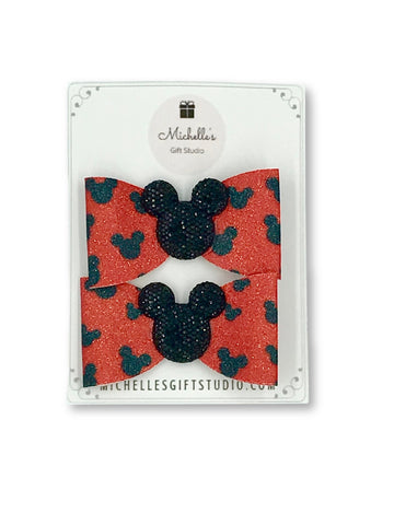 Mouse Ears Bows Hair Bows- Michelle's Gift Studio