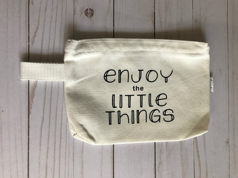 Enjoy the Little Things Cosmetic Bag- Michelle's Gift Studio