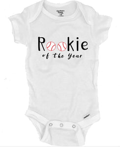 Baseball Rookie of the Year Infant Onesie®- Michelle's Gift Studio