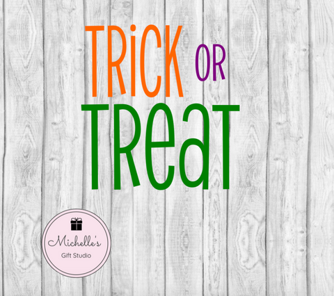 Trick or Treat SVG SVG File- Michelle's Gift Studio