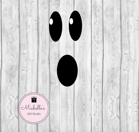 Ghost Face SVG SVG File- Michelle's Gift Studio