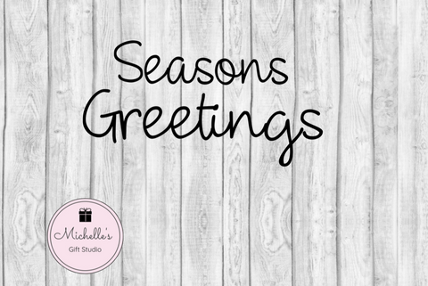 Seasons Greetings SVG SVG File- Michelle's Gift Studio