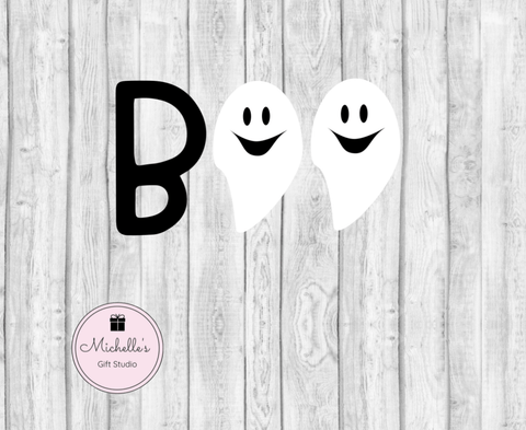 Boo Ghost SVG SVG File- Michelle's Gift Studio