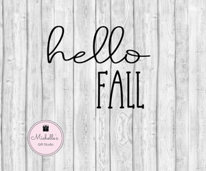 Hello Fall SVG - Michelle's Gift Studio