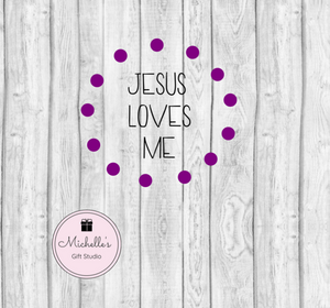 Jesus Loves Me SVG - Michelle's Gift Studio
