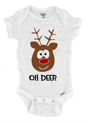 Oh Deer Infant Onesie®- Michelle's Gift Studio