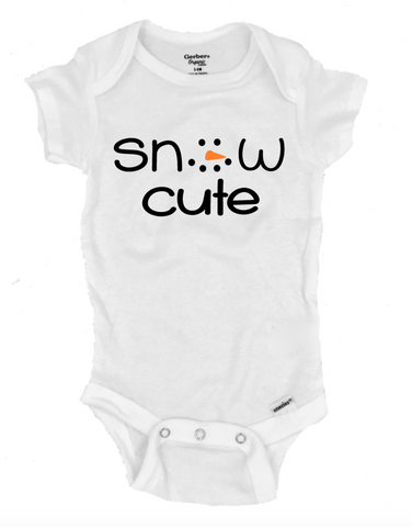Snow Cute Infant Onesie®- Michelle's Gift Studio