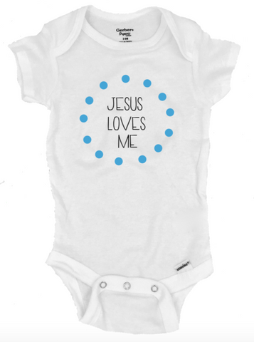 Jesus Loves Me Infant Onesie®- Michelle's Gift Studio