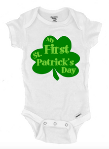 My 1st St. Patrick's Day Infant Onesie®- Michelle's Gift Studio