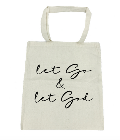 Let Go & Let God Tote Bag- Michelle's Gift Studio