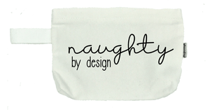 Naughty by Design Cosmetic Bag- Michelle's Gift Studio