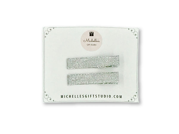 Silver Hair Clips - Michelle's Gift Studio