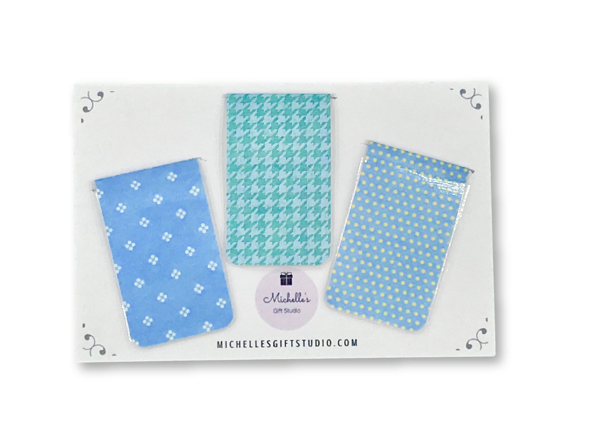 Blue Magnetic Bookmarks - Michelle's Gift Studio