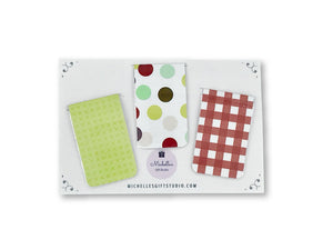 Circle & Plaid Magnetic Bookmarks for Books - Michelle's Gift Studio