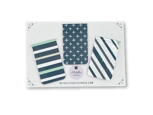 Navy Magnetic Bookmarks Bookmark- Michelle's Gift Studio