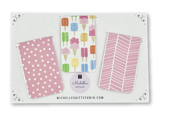 Ice Cream Magnetic Bookmarks - Michelle's Gift Studio