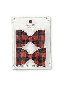 Buffalo Plaid Bows Hair Bows- Michelle's Gift Studio