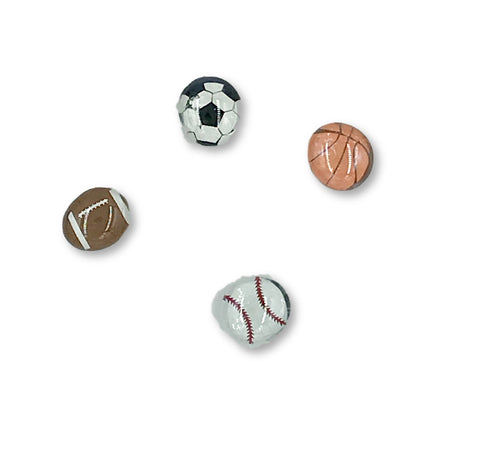Sports Balls Magnets (set of 4) Magnets- Michelle's Gift Studio