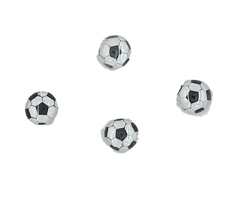 Soccer Ball Glass Magnets (set of 4) Magnets- Michelle's Gift Studio