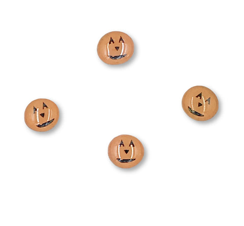 Pumpkin Glass Magnets (set of 4) - Michelle's Gift Studio