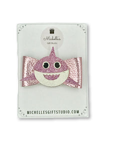 Pink Shark Bow - Michelle's Gift Studio