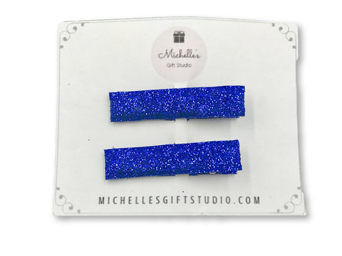 Blue Hair Clips - Michelle's Gift Studio