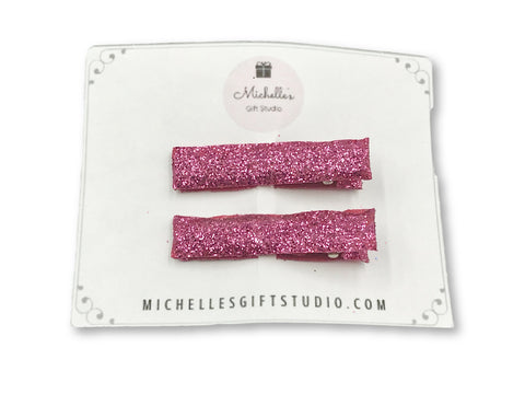 Pink Hair Clips - Michelle's Gift Studio