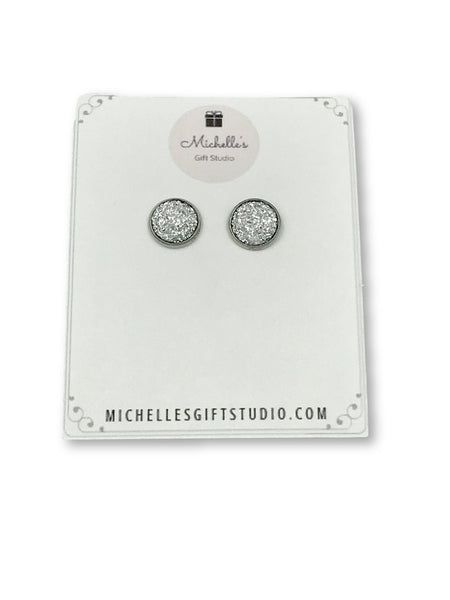 Diamond Faux Druzy Earrings - Michelle's Gift Studio