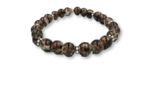Brown Glass Bead Bracelet Bracelet- Michelle's Gift Studio