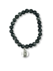 Black Glass Bead Bracelet - Michelle's Gift Studio