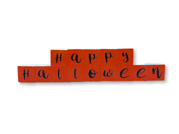 Halloween/Christmas Reversible Block Decor - Michelle's Gift Studio
