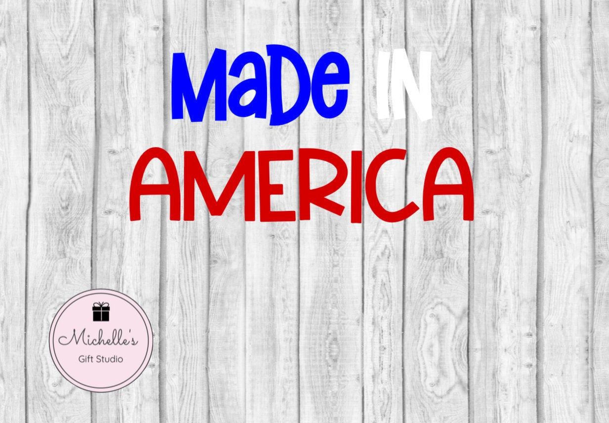 Made in America svg | Patriotic svg | Patriotism | Kids svg | Kids Shirt | 4th of July svg | 4th of July Shirt | Fourth of July Shirt - Michelle's Gift Studio