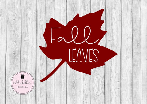 Fall Leaves SVG - Michelle's Gift Studio