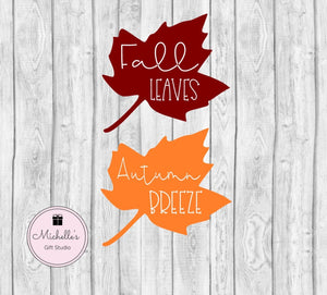 Fall Leaves & Autumn Breeze SVG - Michelle's Gift Studio