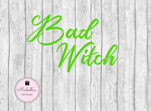 Bad Witch SVG - Michelle's Gift Studio