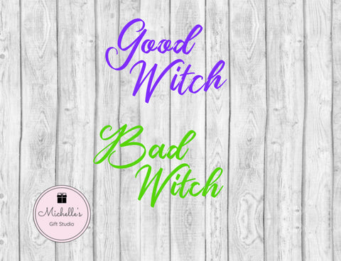 Good Witch & Bad Witch SVG - Michelle's Gift Studio