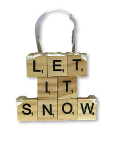 Let It Snow Ornament Ornament- Michelle's Gift Studio