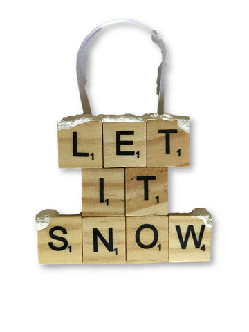 Let It Snow Ornament - Michelle's Gift Studio