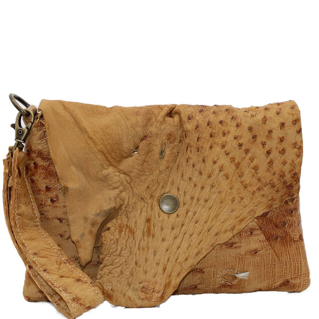 Clutch purse leather handbagWristlet wallet made using sustainable leather by Noveled Leather