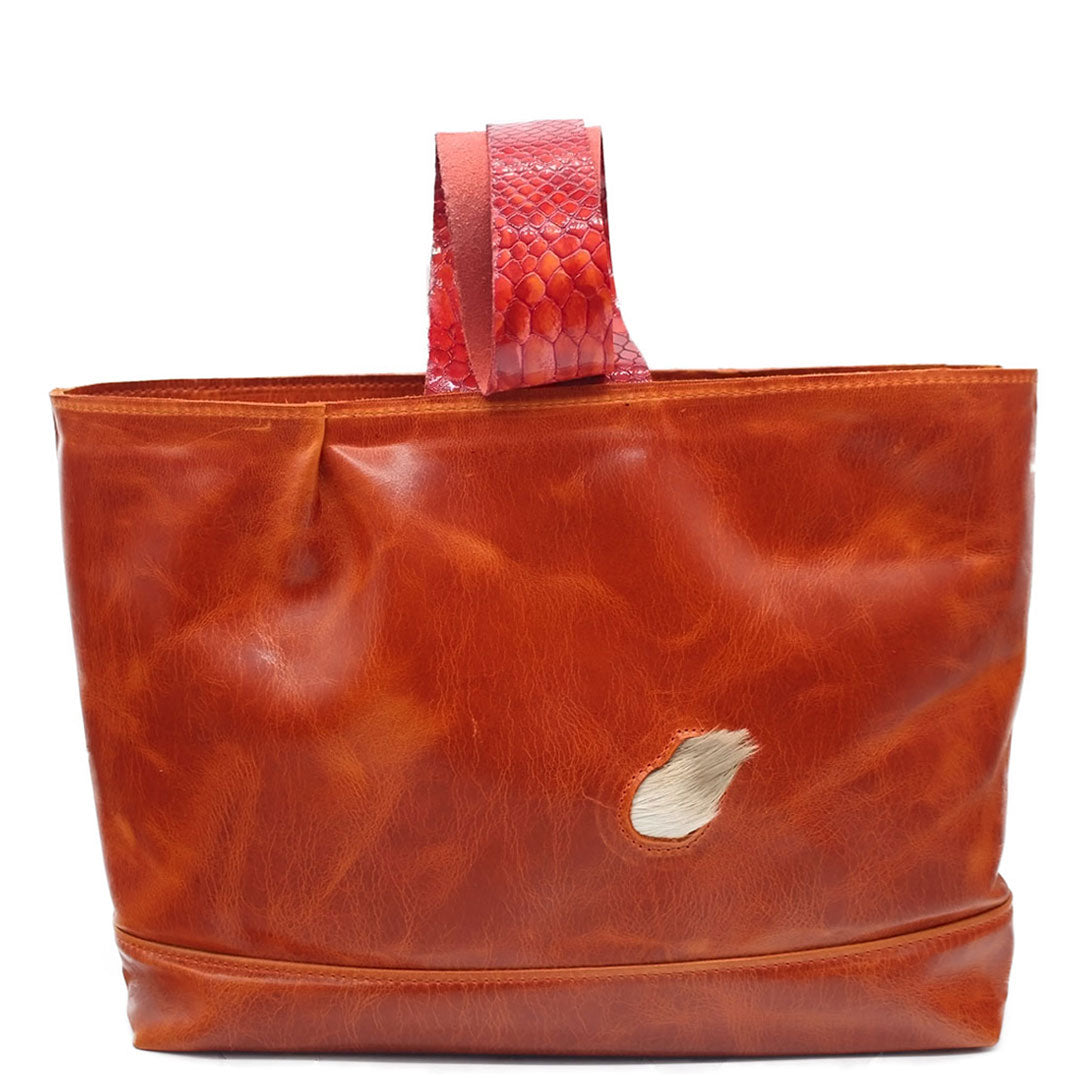 Handheld bags designed with a twist one strap mouth to mouth comfortable sits on the forearm