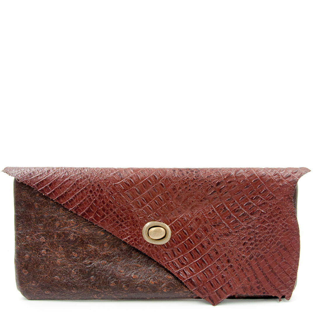 Clutch purse leather handbag unique clutches made using sustainable leather by Noveled Leather