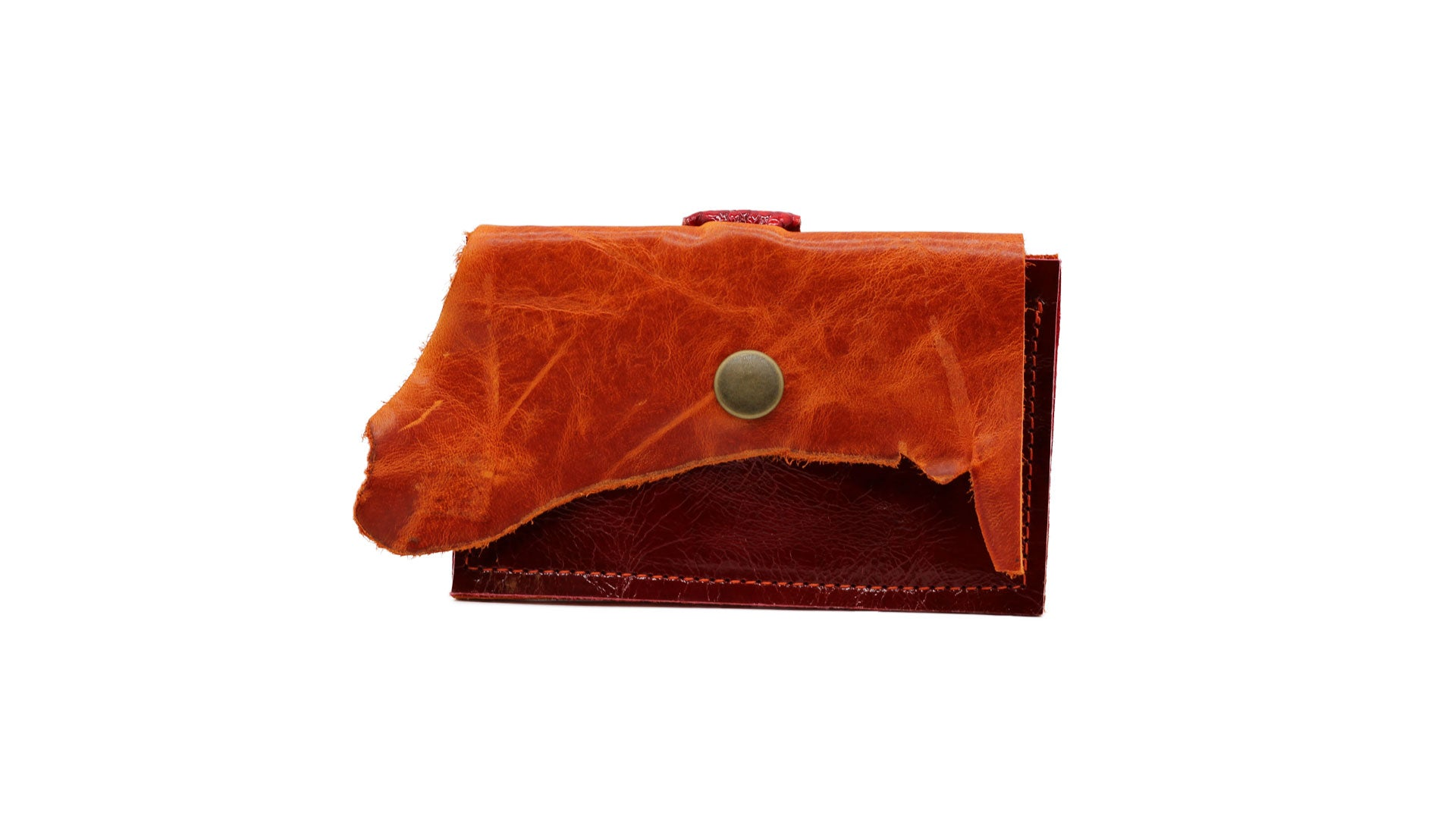 Leather Clutch Wallet | Bronze