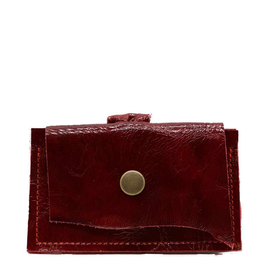 Leather clutch wallet and business card holder