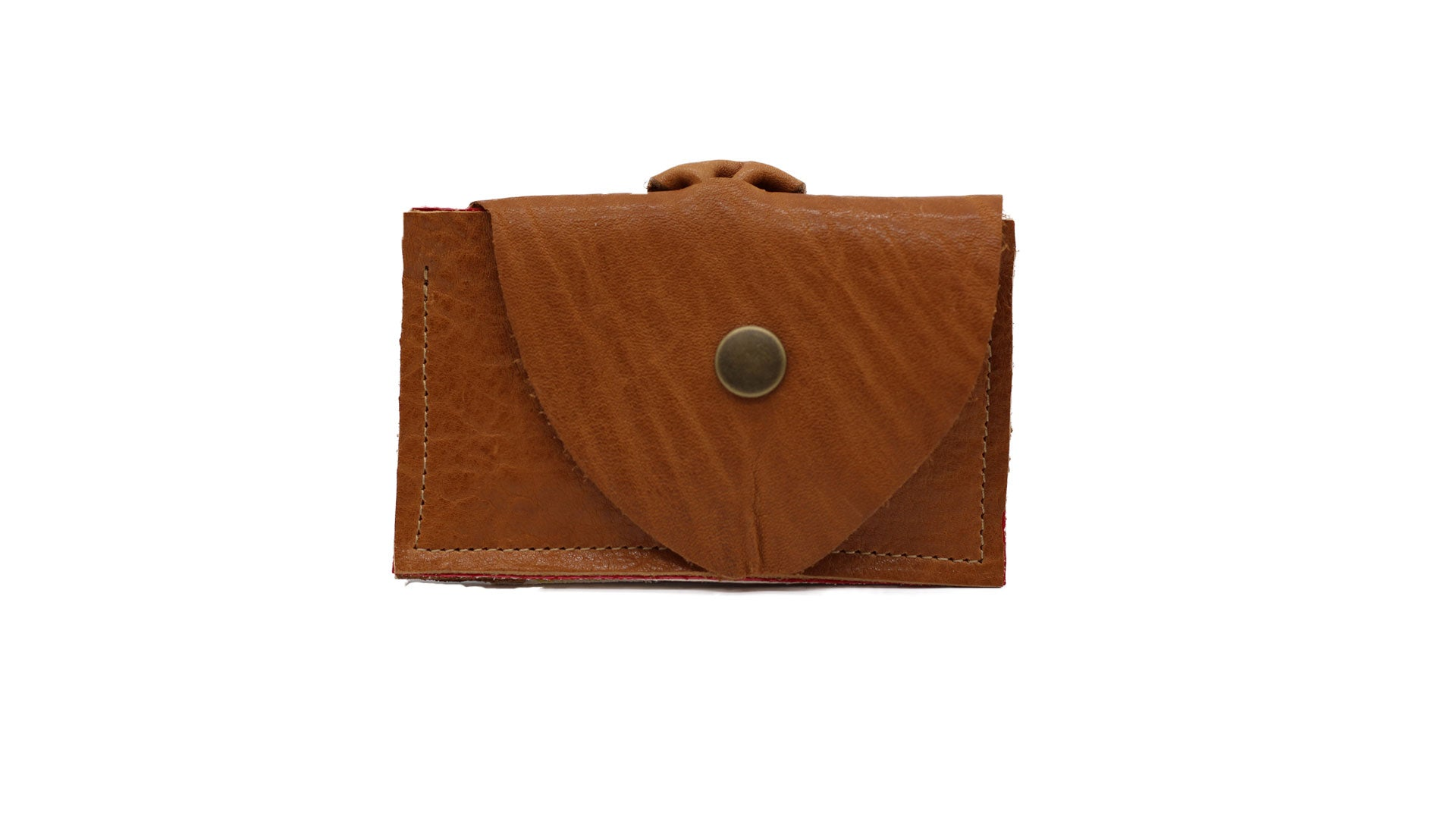 Leather Clutch Wallet | Camel