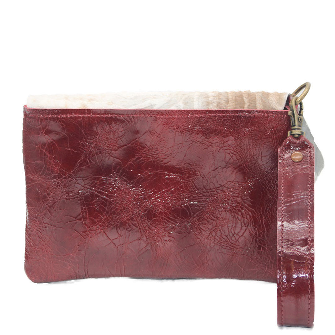 Noveled Leather Bags Wristlet Wallet handmade multifunctional