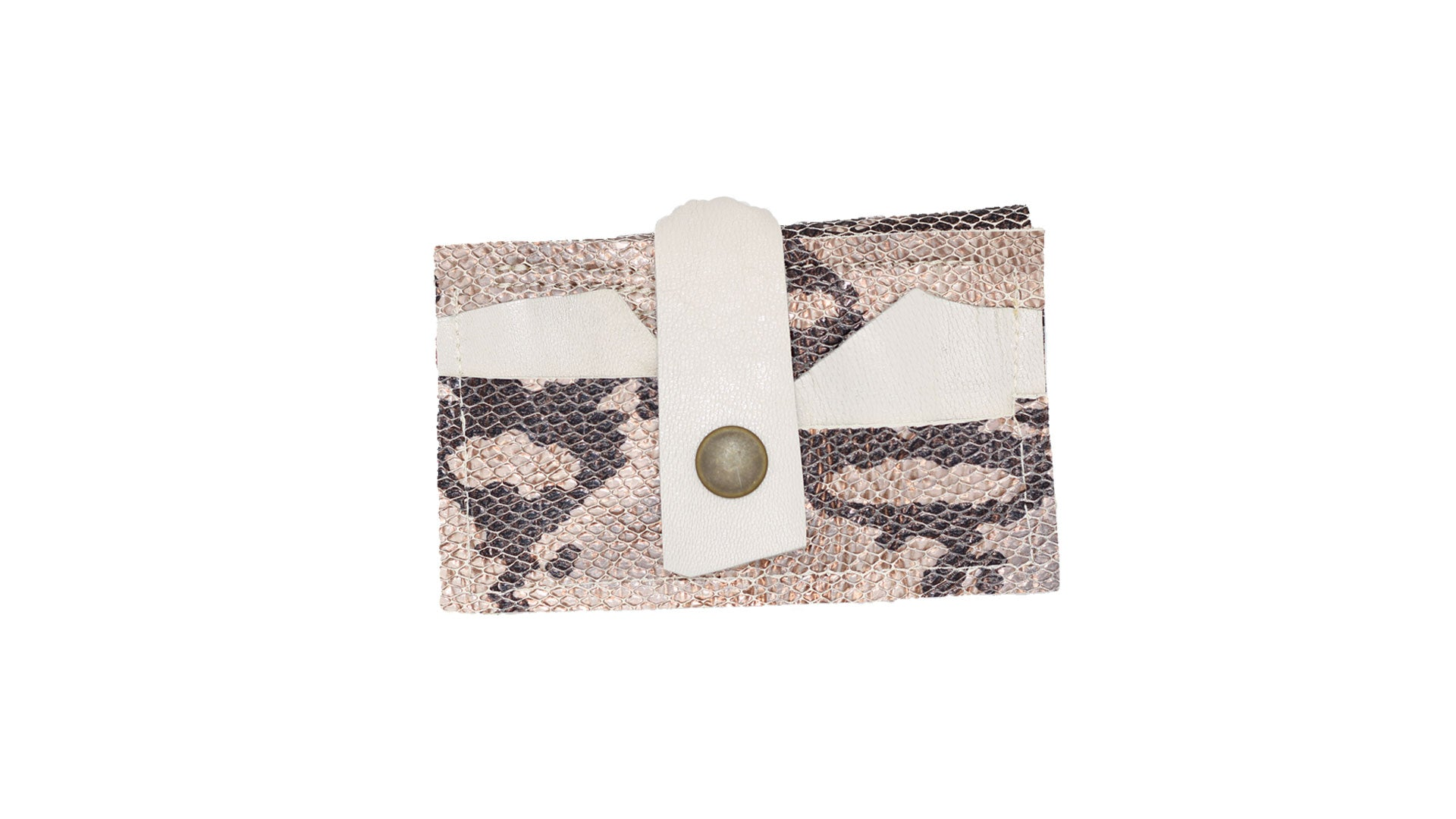 Noveled Leather wallets embossed python cowhide