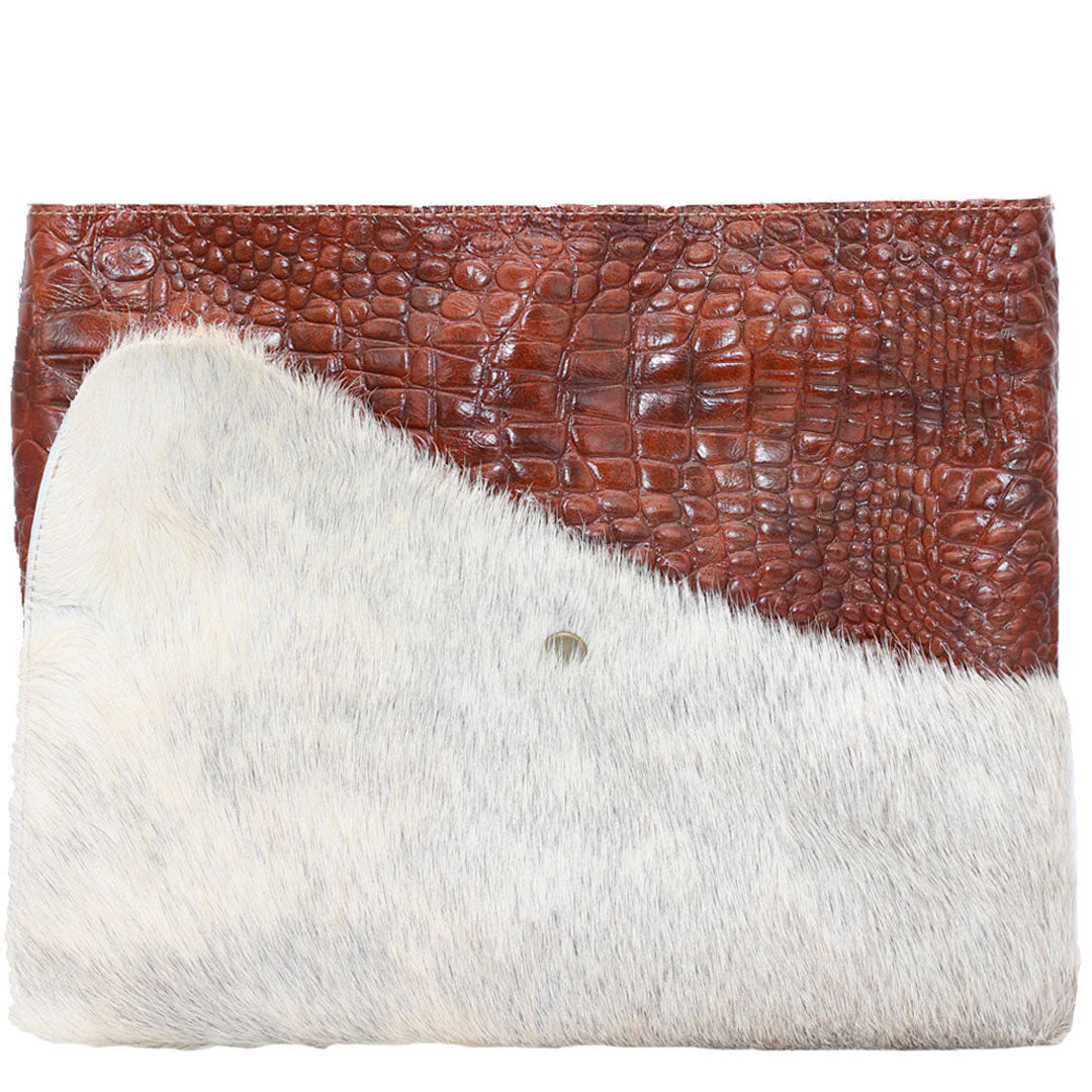 Oversized Clutch bag Noveled leather fits iPad and MacBook Air