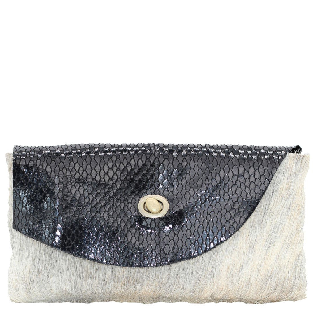 Clutch bag noveled leather, evening bag fits all your essentials, unique
